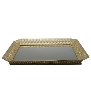 Bandeja espejo recta metal
